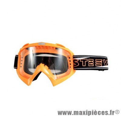 Lunette/Masque Cross marque Steev Orange Fluo