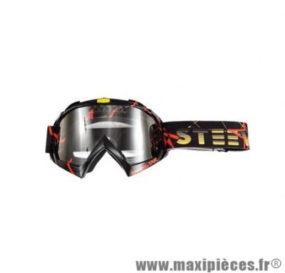 Lunette/Masque Cross marque Steev Deco Redstar