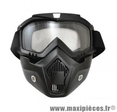 Masque Casque Jet/Bol marque Trendy 17 T-101 Dark Knight Noir Mat