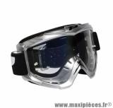 Lunette Cross marque ProGrip 3301 Gris Écran transparent anti-rayures/anti-buée