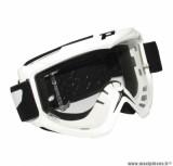 Lunette Cross marque ProGrip 3301 Blanc Écran transparent anti-rayures/anti-buée