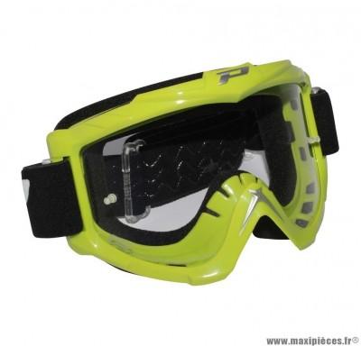 Lunette Cross marque ProGrip 3301 Vert Écran transparent anti-rayures/anti-buée