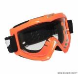 Lunette Cross marque ProGrip 3301 Orange Écran transparent anti-rayures/anti-buée
