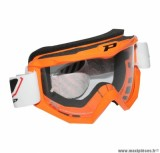 Lunette Cross marque ProGrip 3201 Orange Écran transparent anti-rayures/Anti U.V.
