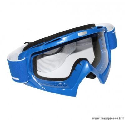 Lunette Cross marque RC Steel Bleu Écran transparent anti-rayures