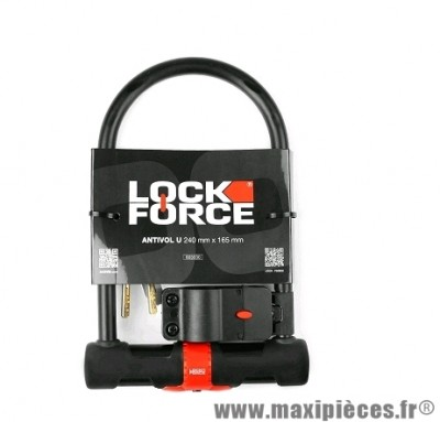 Antivol U marque Lock Force hercule 240 x 165 + support
