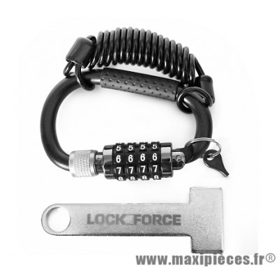 Antivol de casque marque Lock Force lockness (scooter / maxiscooter / velo)