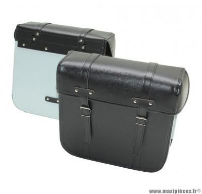 Sacoche cyclo marque Sporfabric r40 dos metal noir (33x32x14cm) (fixations par courroies) (paire)