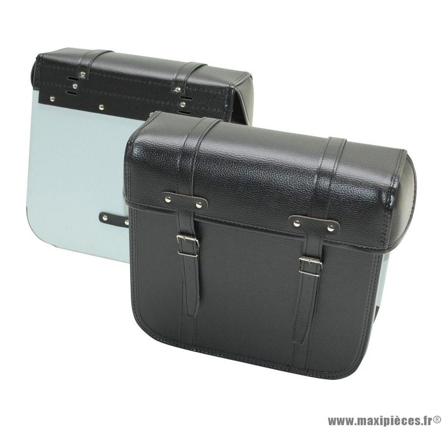 Paire de sacoches cyclo renforcées dos métal Sporfabric R40 noir