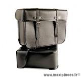 Sacoche marque Sporfabric r50 dos metal noir 33x38x14 cm (paire)