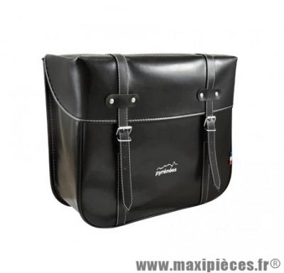 Sacoche cyclo dos plastique noir (paire) - 33 x 28 x 14 cm