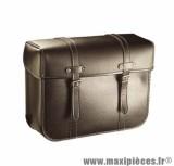 Sacoche cyclo dos metal r50 noir (paire) - 36 x 28 x 14 cm