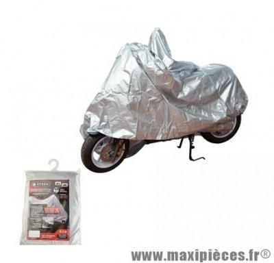 Housse de protection scooter/moto etanche int/ext marque Steev grise (oeillet antivol+sangle)