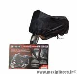Housse de protection scooter/moto etanche pu int/ext marque Steev noire (oeillet antivol+sangle)