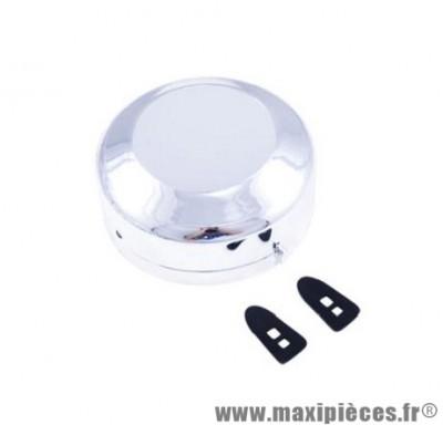 Cache volant magnétique cyclo pour allumage rupteur mbk chrome (livrés avec 2 attaches)