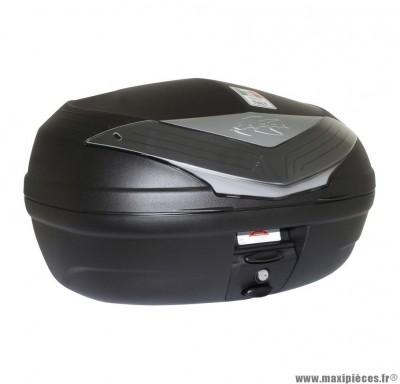 Top case marque Kappa 46l capot look carbone avec reflecteur fume et platine (k466nt) (pour 2 casques integraux)