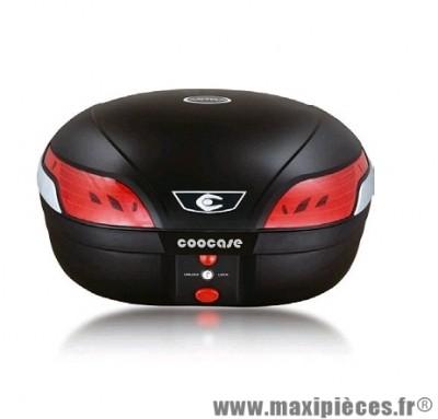 Top case marque Coocase astra luxury s48 litres noir livre avec platine (avec telecommande, alarme, feu stop a led)