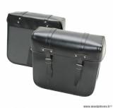Sacoche cyclo marque Sporfabric r40 noir (33x32x14cm) (fixation par courroies) (paire)