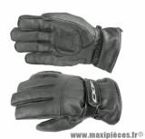 Gants Hiver Scoot marque Aido A200 cuir Noir taille XXL (Étanche eau et froid)