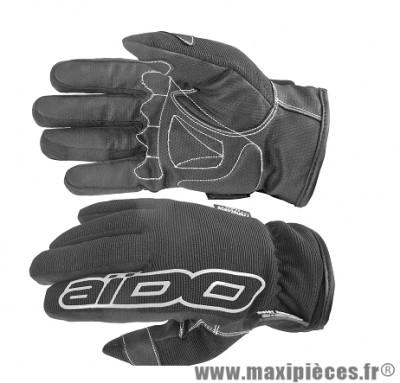 Gants Hiver Scoot marque Aido A100 Noir taille S (Étanche eau et froid)