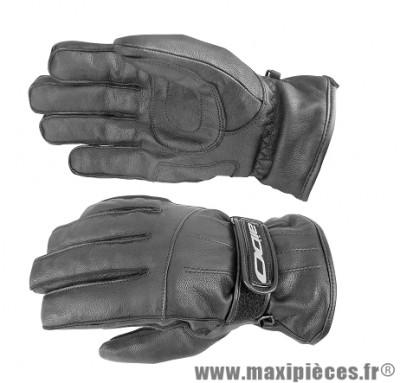 Gants Hiver Scoot marque Aido A200 cuir Noir taille XS (Étanche eau et froid)