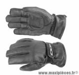 Gants Hiver Scoot taille XL marque Aido A200 cuir Noir (Étanche eau et froid)