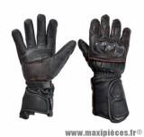 Gants Hiver marque Steev Delta cuir Noir/Rouge 2017 taille XXXL / T13 - Coque Homologuée Ce