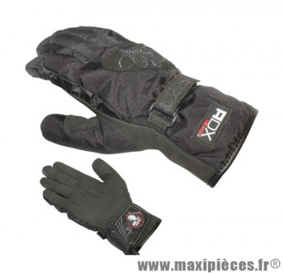 Gants Hiver taille XXS / T6 marque ADX City Lady Noir (Tissu Polyester + cuir synthétique-Doublure Polaire)