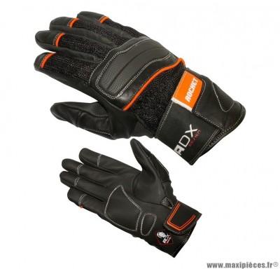 Gants Mi-Saison ADX Rocket taille XXS / T6 Noir-Orange (Polyester mesh + cuir + rubber)