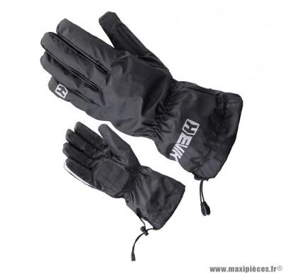 Couvre Gants marque Hevik HCW100 taille S/T8 Noir (100% Imperméable, Cordon ajustable au poignet, Doublure thermique)