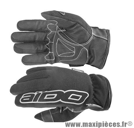 Gants Hiver Scoot marque Aido A100 Noir taille M (Étanche eau et froid)
