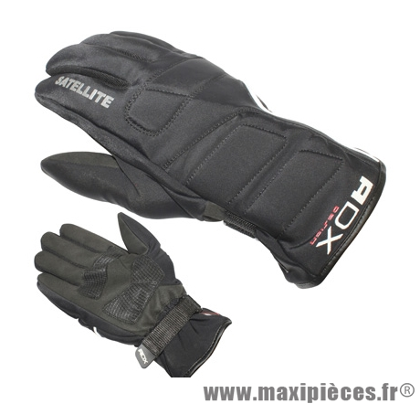 Gants Hiver marque ADX Satellite Noir taille XS / T7 (Polyester softshell + cuir synthétique-doublure polaire)