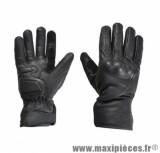 Gants Mi-Saison taille S / T8 marque Steev cuir Idaho 2017 Noir