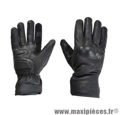 Gants Mi-Saison marque Steev cuir Idaho 2017 Noir taille M / T9