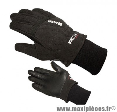 Gants Mi-Saison marque ADX Racer Noir taille XS / T7 (Polyester softshell + cuir)