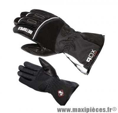 Gants Hiver marque ADX Metropolis Noir taille XS / T7 (Polyester softshell + matt + cuir-doublure polaire 100% polyester)