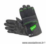Gants Mi-Saison ADX Rocket taille XXS / T6 Noir-Vert (Polyester mesh + cuir + rubber)