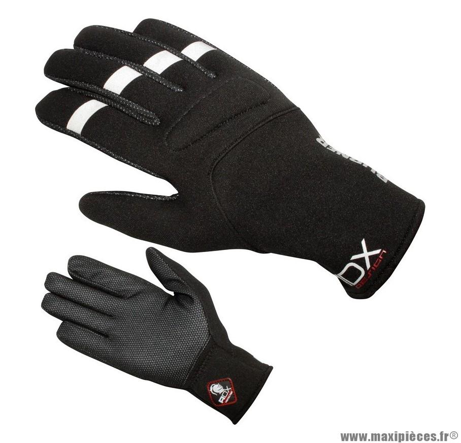 Gants Mi-Saison ADX Burner taille XXS / T6 Noir (100% Polyester, Dessus Tissu Stretch)