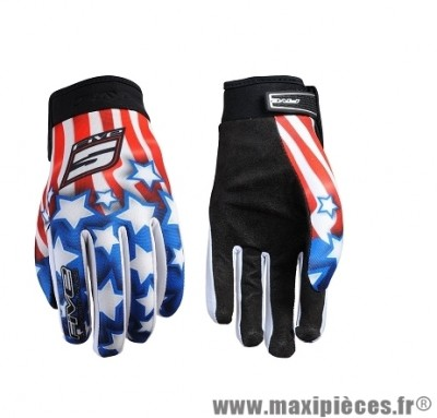 Gants Moto taille YXL marque Five Planet Kid Patriot Usa