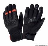 Gants Printemps-Été marque Tucano Dogon Noir-Orange taille M / T9 (Compatible écran tactile)