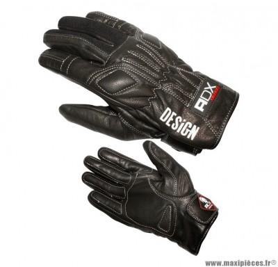 Gants Mi-Saison ADX Design taille XXS / T6 Noir (95% cuir + 5% Tissu Stretch)