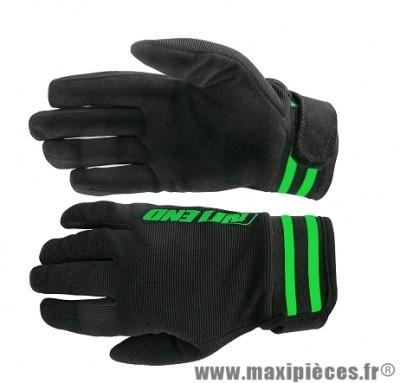 Gants Cross marque Noend Mxcolor Noir/Vert taille XS