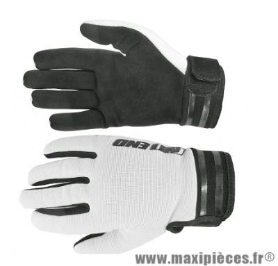 Gants Cross marque Noend Mxcolor Blanc/Noir taille M
