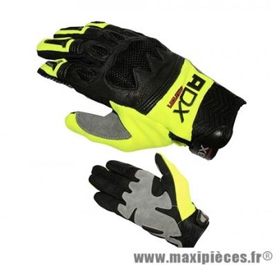 Gants Cross marque ADX MX2 Jaune Fonce taille XS / T7 (Textile-cuir + coque de protection)