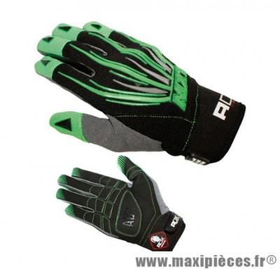 Gants Cross marque ADX MX1 Lazyboy Vert taille XXL / T12 (Dessus textile, dessous cuir synthétique amara)