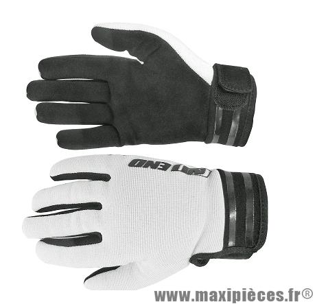 Gants Cross marque Noend Mxcolor Blanc/Noir taille XS