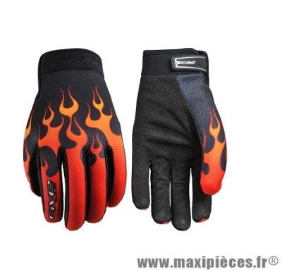 Gants Moto taille S marque Five Planet Fashion Flaming