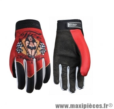 Gants Moto marque Five Planet Fashion Pinup taille XXL