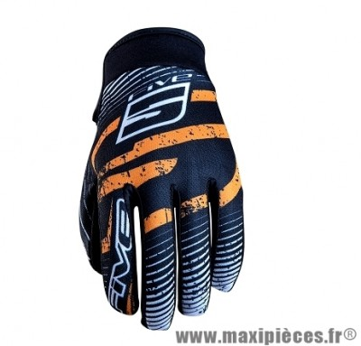 Gants Moto marque Five Planet Fashion Logo Orange taille XS