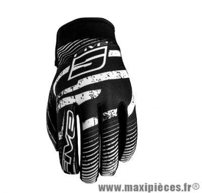 Gants Moto marque Five Planet Fashion Logo Black/White taille XL